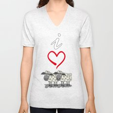 I Love Ewe Too Unisex V-Neck