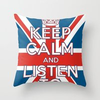 """coldplay Throw Pillows featuring """"Keep Calm and Listen to Coldplay""""-Union Jack by Fabfari"""