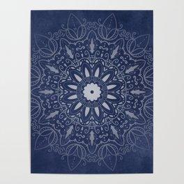Indigo Mystique Mandala Poster