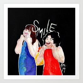 (Broad City) SMILE Art Print