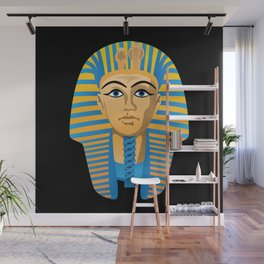 Egyptian Golden Pharaoh Burial Mask Wall Mural