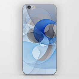 Abstract with Shades of Blue iPhone Skin