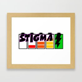 Recharge with Stigma Framed Art Print