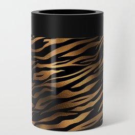 Gold and black metal tiger skin Can Cooler