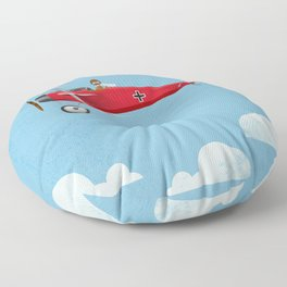 The Red Baron Floor Pillow