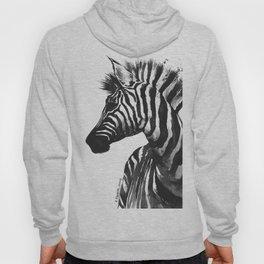 Zebra head - watercolor art Hoody