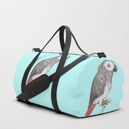 Cute African grey parrot Duffle Bag