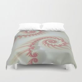 Candy Cane Swirl Pastel - Fractal Art Duvet Cover