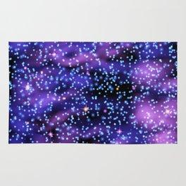 Space nebula background. Rug