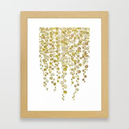 golden string of pearls watercolor 2 Framed Art Print