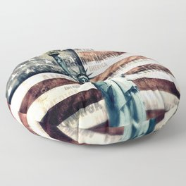 Vintage Patriotic American Liberty Floor Pillow