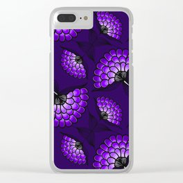 African Art Cloth in Purple Clear iPhone Case