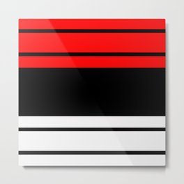 Stripes 2.....red,black Metal Print