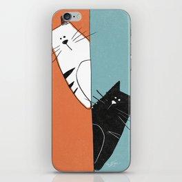 Black Cat, White Cat iPhone Skin