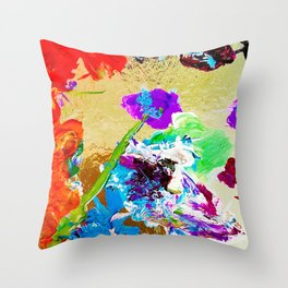 Flowers on the Shore Throw Pillow