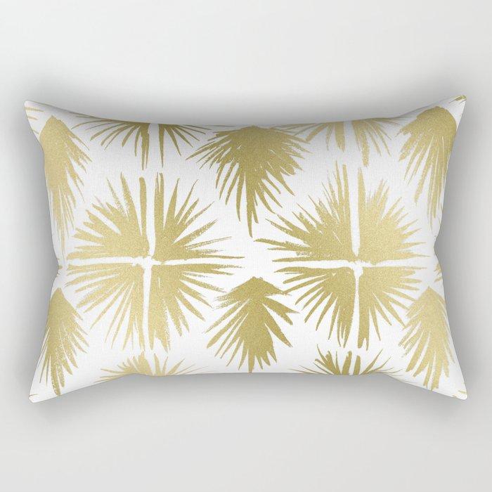 Radiate Gold Rectangular Pillow