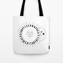 Celestial buddies: They're like night & day Tote Bag