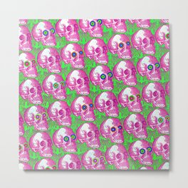 Skullwatchers Pattern Metal Print