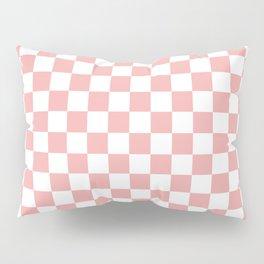 Large Lush Blush Pink and White Checkerboard Squares Pillow Sham