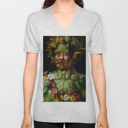 "Giuseppe Arcimboldo ""Holy Roman Emperor Rudolf II re-imagined as Vertumnus"" Unisex V-Neck"