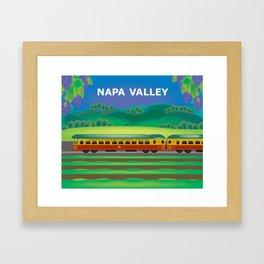 Napa Valley, California - Skyline Illustration by Loose Petals Framed Art Print