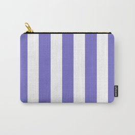 Violet-blue (Crayola) - solid color - white vertical lines pattern Carry-All Pouch