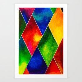 GEOMETRIC BRIGHTS #4 Art Print