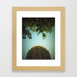 nature vs. city Framed Art Print
