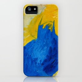Blue in Yellow iPhone Case
