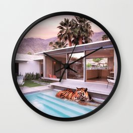 Palm Springs Tigers Wall Clock