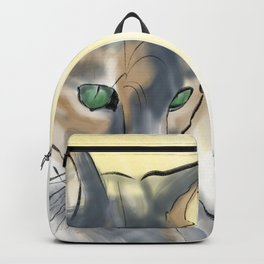 Green Eyed Cat Backpack