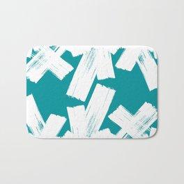 Viridian green/white crystall Bath Mat