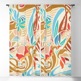 Abstract Florals Blackout Curtain