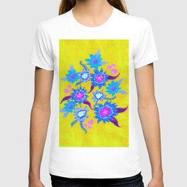 Electric Blue Blooms T-shirt