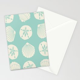 Sea Shells Light Green Stationery Cards