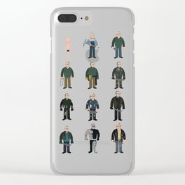 Jason Voorhees Evolution (1980 to 2009) Clear iPhone Case