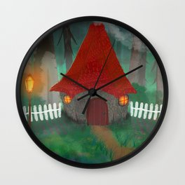 Witches Hut Wall Clock