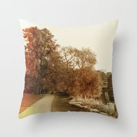 stockholm Throw Pillows featuring Stockholm 03 by Viviana Gonzalez
