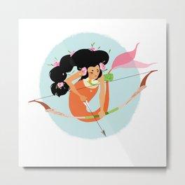 Archer Mermaid Metal Print