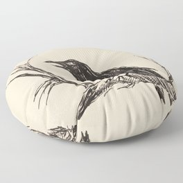 Crow edit version 3 Floor Pillow