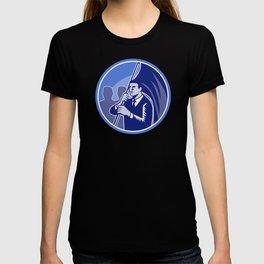 Businessman Flag Bearer Retro T-shirt