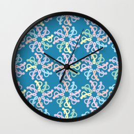 Colorful Ampersand Sign Pattern Wall Clock