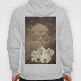 Skull Human Vintage Flowers Digital Collage Hoody
