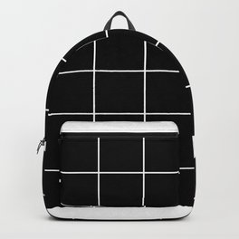 white grid on black background - Backpack