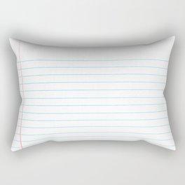 Notebook Paper Digital Watercolor School Chalk Rectangular Pillow