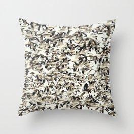 Snow Geese Migration Throw Pillow