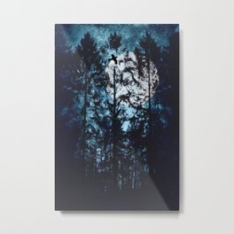 Moon Through Trees Metal Print