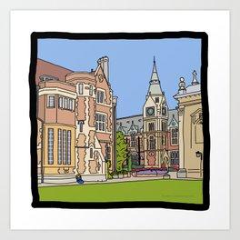 Cambridge struggles: Pembroke College Art Print