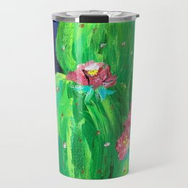 Flowering Prickly Pear Cacus Travel Mug