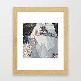Hornbill Skeleton Museum Display Framed Art Print